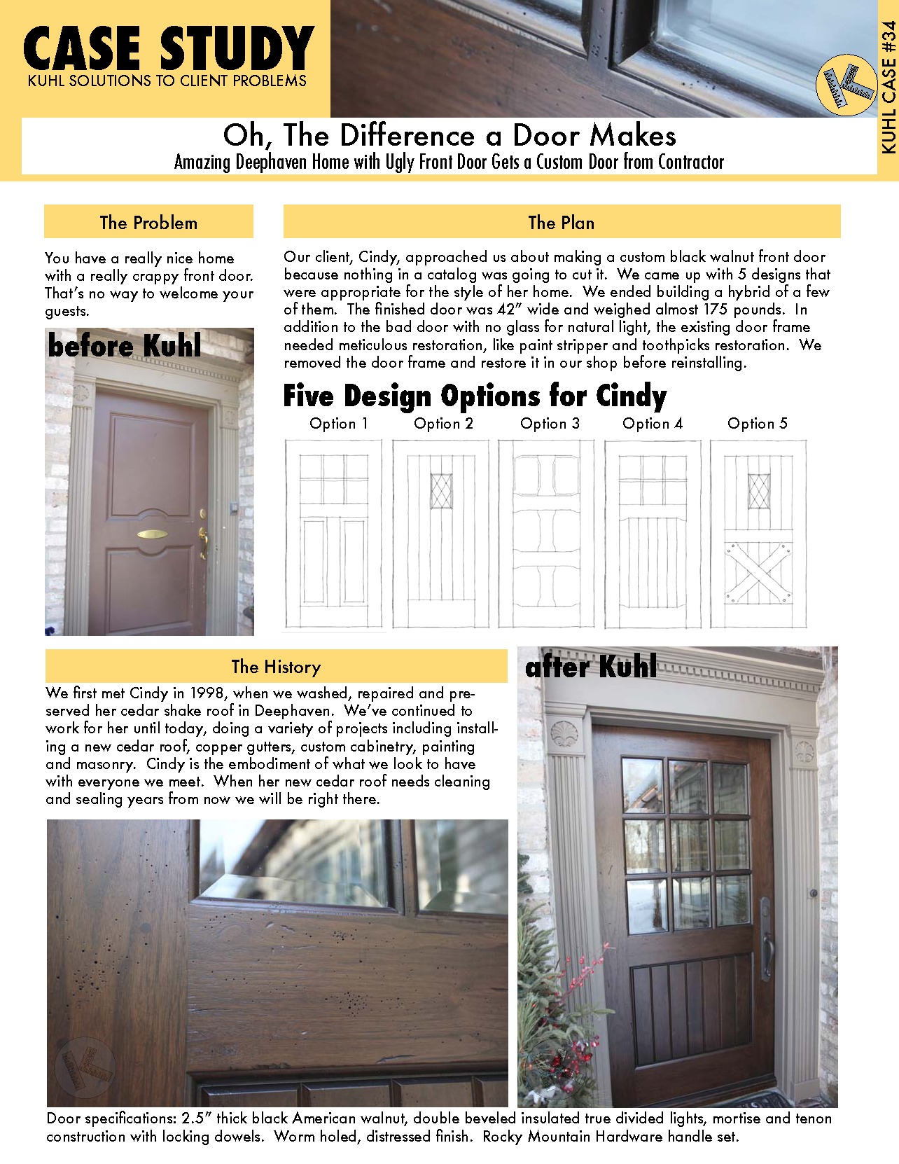 Oh, The Difference a Door Makes: Custom Door for Minneapolis Home