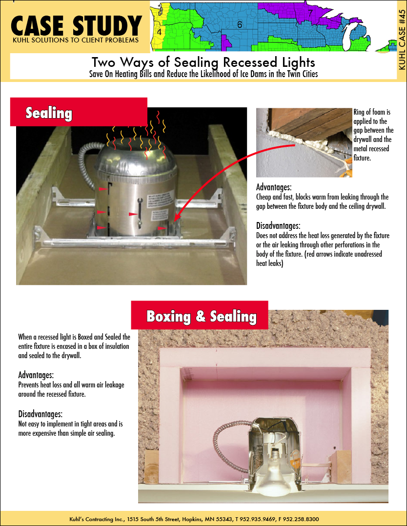Two Ways of Sealing Recessed Lights